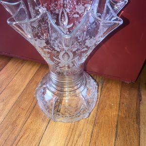 """Cambridge Fostoria glass floral vase 12"""""""